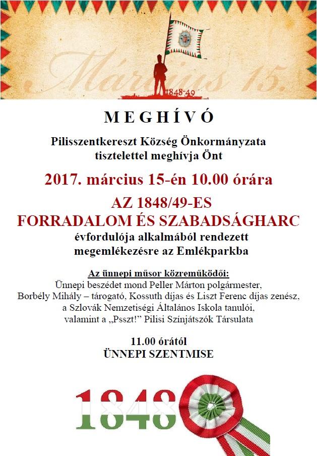 március 15. meghívó 2017