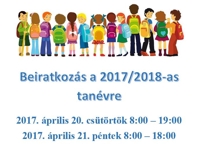 iskolai beiratkozás 2017/2018. tanévre