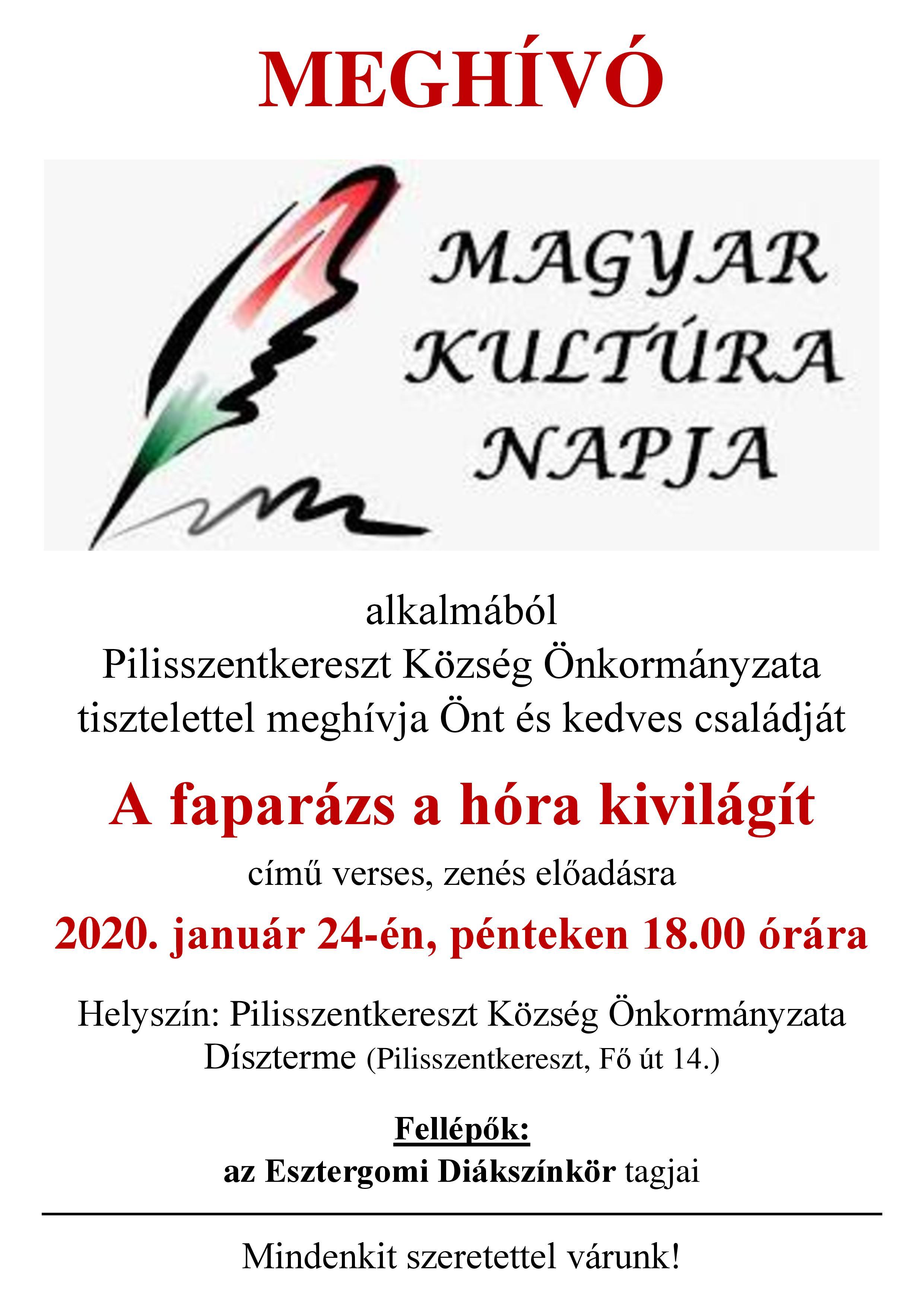 Meghívó - Magyar Kultúra Napja