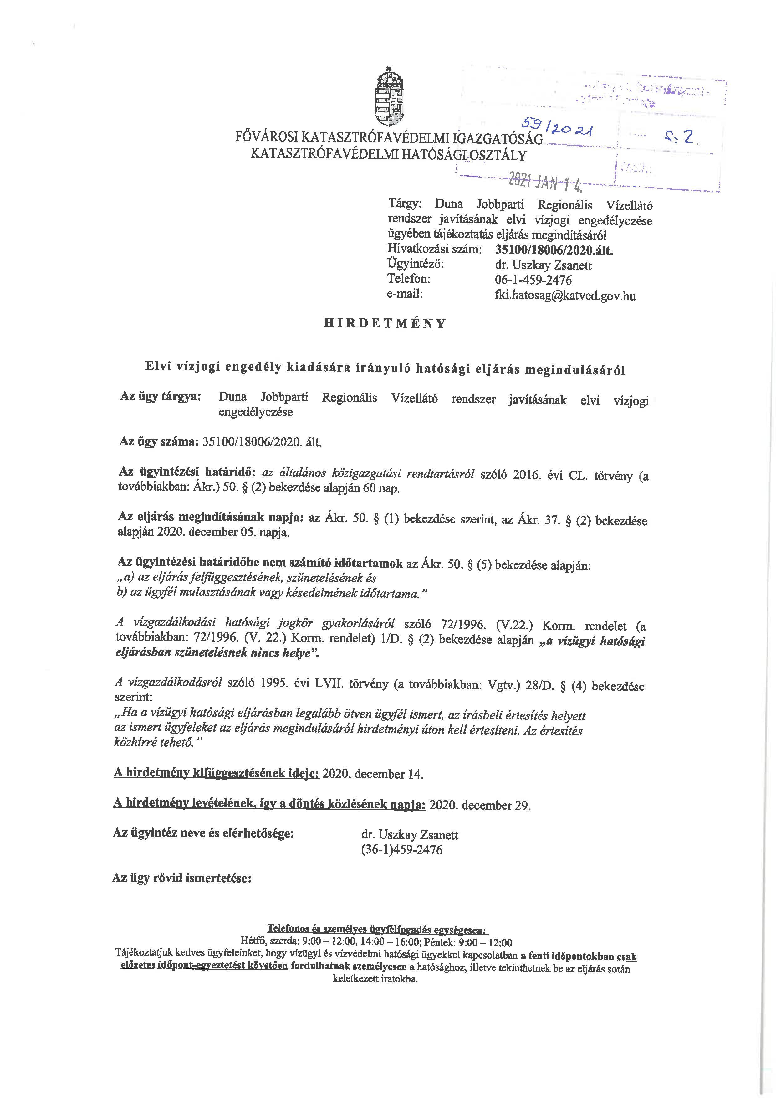 DMRV vízjogi engedély 1